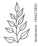 a branch with sparse leaves...   Shutterstock .eps vector #1946272852