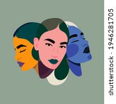 three faces  one person. three... | Shutterstock .eps vector #1946281705