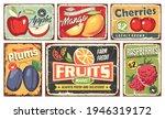 fruit market vintage signs... | Shutterstock .eps vector #1946319172