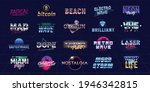 vector set of futuristic logos...   Shutterstock .eps vector #1946342815