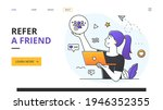 refer a friend concept with...