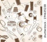 seamless vector wallpaper... | Shutterstock .eps vector #194635238