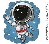 cute cartoon astronaut  flying...   Shutterstock .eps vector #1946364142