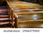 Empty pews at a Synagogue