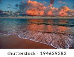 peaceful ocean sunset with... | Shutterstock . vector #194639282