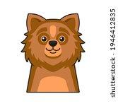 cute dog face icon. cartoon... | Shutterstock .eps vector #1946412835