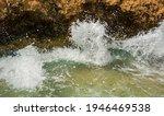 Sea   Waves Crash Against Rocks ...