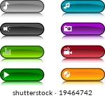 beautiful shiny buttons. vector ... | Shutterstock .eps vector #19464742