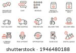 vector set of linear icons... | Shutterstock .eps vector #1946480188