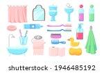 Set Of Bath Accessories Flat...