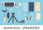 set of graphic phone... | Shutterstock .eps vector #1946485402