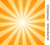 sunburst  orange light ray ... | Shutterstock .eps vector #194650322
