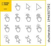 cursor icons set   editable...   Shutterstock .eps vector #1946507392