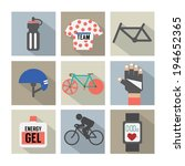 Set Of Flat Design Bicycle And...