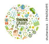 think green slogan with eco... | Shutterstock .eps vector #1946542495
