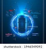 automatic braking system avoid... | Shutterstock .eps vector #1946549092
