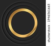 gold round vintage frame with...   Shutterstock . vector #1946561665