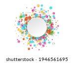 colored carnaval confetti...   Shutterstock . vector #1946561695