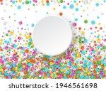 colored carnaval confetti...   Shutterstock . vector #1946561698