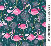 graphic seamless pattern with... | Shutterstock .eps vector #194657396