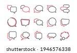 Speech Bubbles Line Icons....