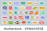 decorated scrapbooking stickers.... | Shutterstock .eps vector #1946614318