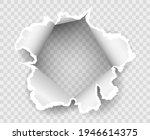 transparent paper rip hole.... | Shutterstock .eps vector #1946614375