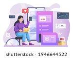 content management illustration ...   Shutterstock .eps vector #1946644522