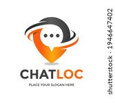 location chat vector logo... | Shutterstock .eps vector #1946647402