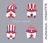 patriotic gnomes wear a top hat ... | Shutterstock .eps vector #1946647978