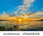Lake Water Horizon Dawn...