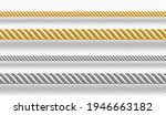 gold and silver ropes  twisted... | Shutterstock .eps vector #1946663182