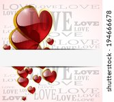 abstract glossy heart on white  ... | Shutterstock . vector #194666678