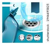 drain cleaner kills germs promo ... | Shutterstock .eps vector #1946695825