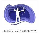 archery sport player white... | Shutterstock .eps vector #1946703982