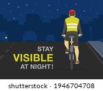 back view of cyclist wearing... | Shutterstock .eps vector #1946704708
