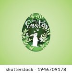 illustration of easter day with ... | Shutterstock .eps vector #1946709178