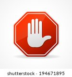 vector stop sign red isolated... | Shutterstock .eps vector #194671895