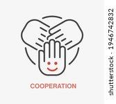 team work line icon. symbol of... | Shutterstock .eps vector #1946742832