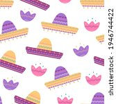 mexican traditional sombrero... | Shutterstock .eps vector #1946744422
