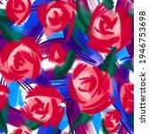 large roses buds on brush...   Shutterstock . vector #1946753698