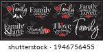 family banner blackboard ...   Shutterstock .eps vector #1946756455