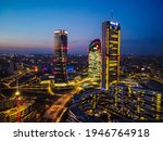 Glass Buildings In Europe City...