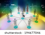 3d image of virtual men on... | Shutterstock . vector #194677046