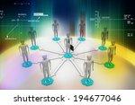3d image of virtual men on... | Shutterstock . vector #194677046