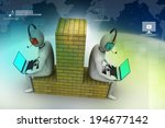3d people working in laptop | Shutterstock . vector #194677142