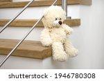 White Plush Teddy Bear Sitting...