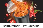 fried chicken with red chili...   Shutterstock .eps vector #1946805385