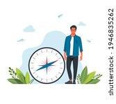 vector illustration of man is... | Shutterstock .eps vector #1946835262