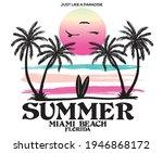 summer watercolor beach wave... | Shutterstock .eps vector #1946868172